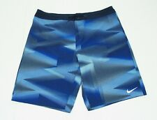 Nike Blue Striped Swimsuit Beach Swim Trunks Board Shorts Mens 38