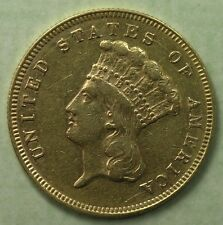 $3 Gold Indian Princess 1878 XF Details * AvenueCoin