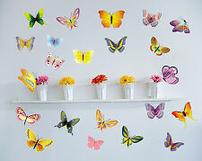 42 PCS  Butterfly Removable Wall Sticker Flower Home Vinyl Kids Nursery