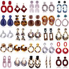 Fashion Women Acrylic Geometric Stud Ear Dangle Drop Earrings Jewelry Gift