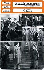 Fiche Cinéma Movie Card. La vallée du jugement/The valley of decision (USA) 1945