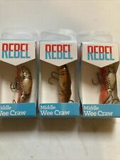 Rebel Middle Wee Craw Lot Of 3 Lures Cajun Craw