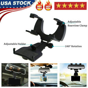 Car Accessories Rearview Mirror Mount Holder Stand Cradle Fit For Cell Phone GPS