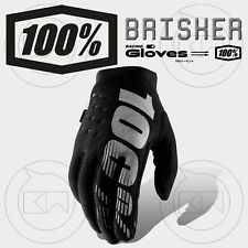 GUANTI 100% BRISKER MX BLACK/GRAY ADULTO MOTOCROSS ENDURO OFF-ROAD ATV MTB