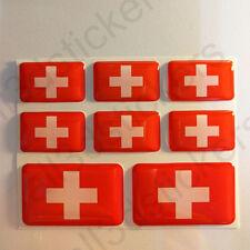 Autocollant Suisse Drapeau 3D Résine Adhésif Relief Autocollants Suisse Voiture