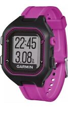 Garmin Forerunner 25 GPS Running Watch - Large, Black/Purple