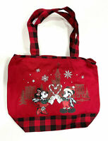 Disney Parks Mickey and Minnie Mouse Holiday Christmas Large Tote Bag NWT