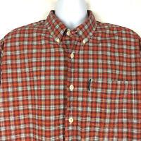 Abercrombie & Fitch Flannel Shirt Size XL Red Blue Plaid Cotton