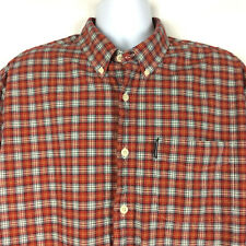 Abercrombie & Fitch Flannel Shirt Size XL Red Blue Plaid Cotton