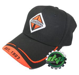 International Trucks Orange & Black Medium Twill Structured Cap/Hat ebroidered