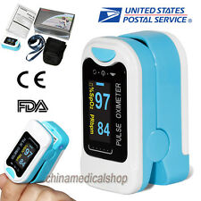 US Finger Tip Oximetr Blood Oxygen Meter SPO2 Pulse Heart Rate Monitor OLED FDA