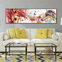 Watercolor Abstract Horse Canvas Painting Poster Wall Art Picture Home Decor