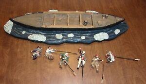 Britains American Revolution 17229 Washington Crossing The Delaware 6 pcs & boat