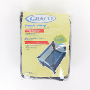 Graco PacknPlay Playard Quilted Sheet  Navy Blue