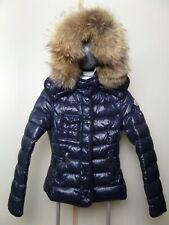 Moncler ARMOISE Women's Down Jacket Bomber Coat Size 1/S Hood Dark Blue