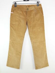 Lost Narrow Corduroy Trousers Biscuit Brown Size 12