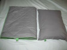 "jetBLUE ""MINT"" DUVET & PILLOW first class airline blanket travel couch throw NEW"