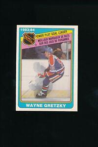 1984 O-Pee-Chee #383 Wayne Gretzky Power Play Goal Leader Edmonton Oilers HOF EX