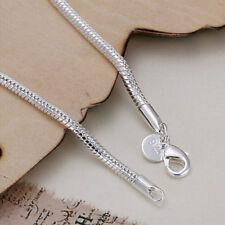 Fashion Silver Plated Flat Soft Snake Bone Women Men Chain Gifts Bracelet SO