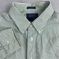 Northern Isles Heritage Collection Button Up Shirt Men L Green 80's 2 Ply Cotton