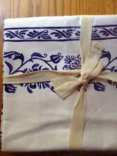 "Williams Sonoma Florentine Block Print Tablecloth 70X108"""