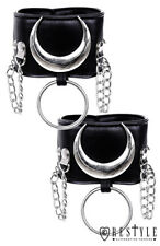 Restyle Iron Moon Cuffs Black Gothic Emo Punk Shoes Ankle Bracelets Anklets
