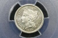 1889 Gem Proof 3 cent Nickel,  PCGS PR-65
