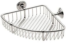 "Ginger 26554 9"" Corner Basket London Terrace Collection, Polished Nickel"