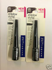 2 X Maybelline Shadow Stylist Eye Shadow SULTRY BLACK #605 NEW.