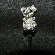 1 Cellphone 3.5mm Rhinestone Dust Plug Cute Bear with Bow Crystal