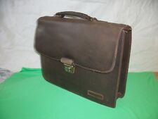 ANCIEN CARTABLE ASCOTT & CO VINTAGE CUIR  1 SOUFFLET  39x30x9cm