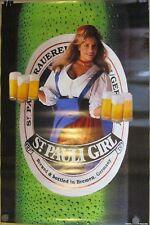 "Original Vintage 1993 St Pauli Girl Beer Poster 20x30"" Bremen Germany"