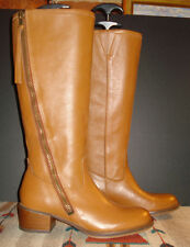 "Lucky Brand ""Heston"" Chestnut Brown Leather Zip Riding/Field Boot Sz. 7.5M WOW!"