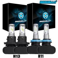 Hi&Lo H13 9008 LED Headlight 1620W Bulbs+H11 Fog Lamps 6500K for Chevy Chevrolet