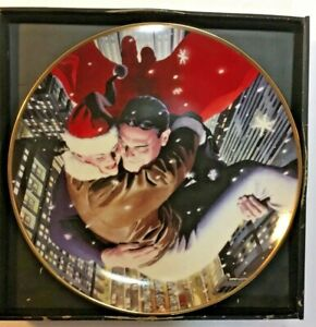 SUPERMAN & LOIS LANE HOLIDAY 2004 -ALEX ROSS LTD ED COLLECTOR'S PLATE 0643/1200