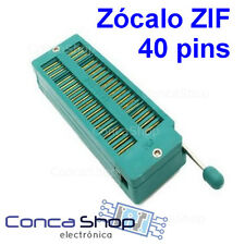 ZOCALO ZIF INSERCIÓN NULA 40 PINS TEXTOOL DUAL IN LINE 40PIN ZIF IC SOCKET MULTI