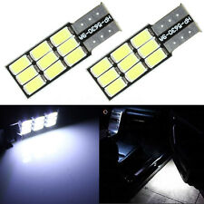 2x HID White W5W 501 T10 Canbus Car 9 LED 5630 SMD Wedge Side Number Bulb Lights