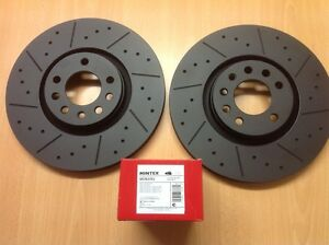 Vauxhall Corsa VXR Front 308mm MTEC Black Edition Brake Discs And Mintex Pads