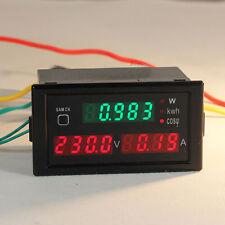 AC 80-300V LCD Digital 100A Volt Watt Power Meter Ammeter Voltmeter  Electric