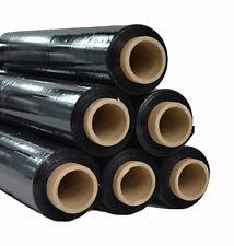 16 Rollen Stretchfolie schwarz 23my Wickelfolie Palettenfolie 500 mm 2,4 kg
