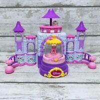 Disney Glitzi Globes Princess Castle Playset Toy Ariel & Belle Snow Globe