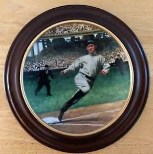 1993 BRADFORD EXCHANGE LTD ED COLLECTOR'S PLATE-TY COBB-IN CIRCULAR FRAME