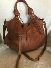 Gorgeous Large Brown Leather Lucky Brand  Ladies Shoulder Handbag