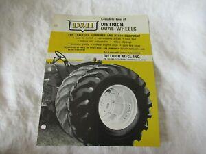 DMI Dietrich dual wheels for farm tractor brochure Oliver 1600 Farmall 806 case