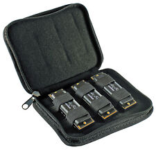 HooDoo Blues Harmonica 3 Pack Harp Set Keys C D G Carrying Case Hohner Black New