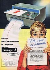 PUBLICITE ADVERTISING 045 1959 THERMO-FAX elle copie en 4 secondes