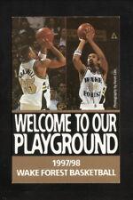 Wake Forest Demon Deacons--1997-98 Basketball Pocket Schedule--Pepsi
