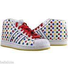 RARE VINTAGE~Adidas PRO MODEL PREMIUM PolkaDot superstar decade Shoe~Men sz 11.5