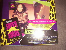 ProSet Super Stars Musicards Trading Cards 1 Full Box First Ever Series