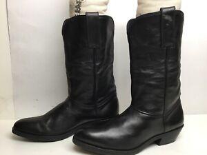 VTG WOMENS UNBRANDED COWBOY BLACK BOOTS SIZE 6?